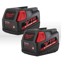 milwaukee - 2 X Milwaukee V18 V Lithium Ion Battery Ah High Capacity F38