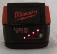 milwaukee - Used Milwaukee V Battery V18 Lithium ion Batteries Tested very good