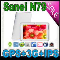 Wholesale 7 Inch Sanei N79 G WCDMA Phone Call IPS Tablet pc Dual Core Android GPS Bluetooth Pipo
