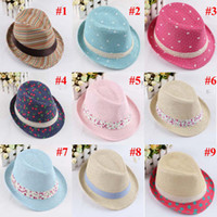 Wholesale Hot Baby Children Hats Kids Fedora Hats Children Boys Girls Top Hats Fashion Caps Colors BH21