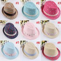 Wholesale Hot Baby Children Hats Kids Fedora Hats Children Boys Girls Top Hats Fashion Caps Colors BH21