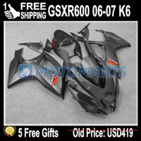 Wholesale 5 gifts COOL Flat Matte Black for SUZUKI GSXR600 GSXR GSX R600 K6 WW129 Fairings