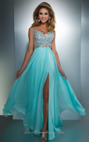 Wholesale 2013 New Sexy Spaghetti Straps Chiffon Prom Dress Rhinestones Ruffles Beaded Evening Dress a