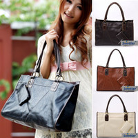 Wholesale 2013 new fashion PU leather large shoulder handbags colors