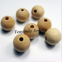 Wholesale 30mm Wood Beads Original Color Fashion Wood Findings Free Shippng