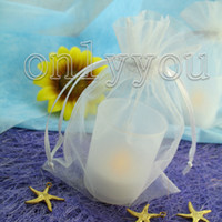 Wholesale Price and Best Quanlity White cm cm Sheer Organza bag Wedding Favor Gift Bag