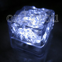 Wholesale Battery included White Led Light Ice Cube Wedding Party Decoration off for large quantity order