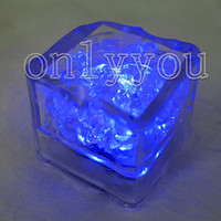 Wholesale 12pcs Blue Led Light Ice Cube Wedding Party Decoration Christmas Decor supplies