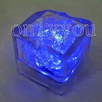 Wholesale Hot Item Blue Led Light Ice Cube Wedding Party Decoration all Festivals Decor supplies