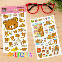 Wholesale cute Rilakkuma pvc sticker sheets per set