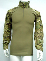 Wholesale Tactical Combat Shirt Multi Camo With Elbow Pad Army Military Shirt Hunting Shirt