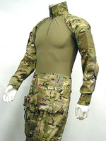 Wholesale Tactical Gear Military Combat Shirt amp Pants With Elbow amp Knee Pads Multi Camo Hunting Sets
