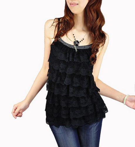 Tank top women deep round neck t-shirt best fabric for shirt in