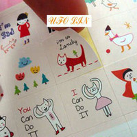 Wholesale New index calendar paper sticker set sheets per set pvc sticker kids sticker great g