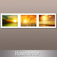 Cheap 1pcs huge 150x40cm The Beauty of Sunset Modern Wall Art Oil paiting set print on canvas home bedroom decoration gift