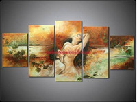 Cheap Handpainted Huge Wall Art Sex Nude Women Naked Girls Love Modern Oil Painting on Canvas Picture