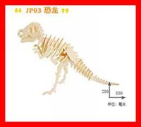 Wholesale Wood D Jigsaw Puzzle Dinosaur Animal Puzzle Educational Toys