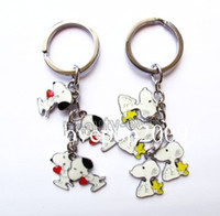 Wholesale New Snoopy Metal Key Chains Key Ring Gift