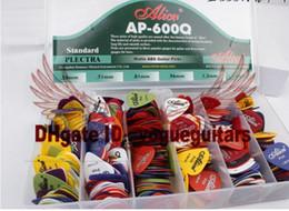 600pcs ALICE Guitar Bass Picks 0.58 0.71 0.81 0.96 1.2 1.5 Mixed Guitar Picks WITHCASE free shipping