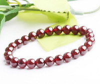 Wholesale 2013 NEW Arrival AAA mm Natural Brown garnet Bead Bracelet Min Order