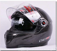 Wholesale hot sell High Density CARBON FIBER motocycle helmet Double Visor full face helmets for motorcycles w