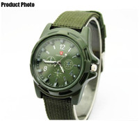 Wholesale HOT sale mew Luxury Analog TRENDY SPORT MILITARY STYLE WRIST WATCH for men green strap swiss a