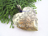 Wholesale mmx42mm Antique Bronze Heart Love Photo Box charms pendant Jewelry accessoies
