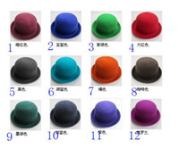 Wholesale huanghe588 Dome homburg flanging British cloth cashmere retro jazz hats