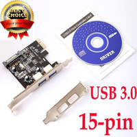 Wholesale 2 Port Super High Speed Mini USB PCI E PCI PCIE Express Networking Network Card pin SATA Power
