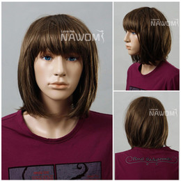 Wholesale Fashion kid wig brown Kanekalon Fiber Synthetic Wig Hair High quality fashion H9123Z