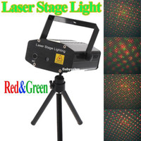 Wholesale 150MW mini Red amp Green Moving Party Laser Stage Light Disco DJ party lighting projector With Tripod