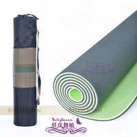 Wholesale TPE yoga mat the MM environmental non slip women costumes yoga pad to send the rope to send backpac