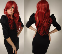 Wholesale New Style Red Long Curly Fashion Lace Front Part Wig Natural Synthetic Hair Products Quality Assurance