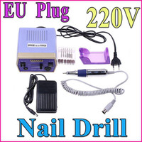 Wholesale Electric Nail Drill Art Equipment Glazing Manicure Machine Bits Kit Tools With Foot Pedal EU Plug