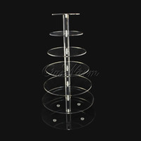 Wholesale Tier Crystal Clear Circle Acrylic Cupcake Stand Wedding Birthday Supply Hot Sale