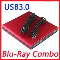 Wholesale Portable USB3 External Bluray Combo DVD CD Player Reader CD RW Burner ODD HDD Drive for ALL PC MAC