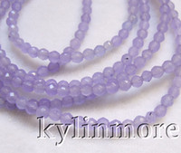 Wholesale 8SE09374a strds mm lavender Jade Faceted Round Beads