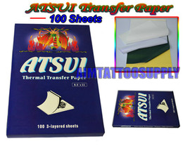 Wholesale Top ATSUI Tattoo Thermal Transfer Paper sheets Box