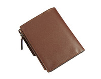 Wholesale Leather Men Wallet New Quality Originality Cowhide Card Bag Purse Comfort Coffee S2013F