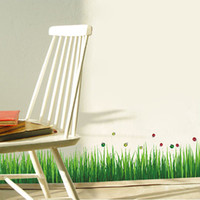 Wholesale 2015 new wall stickers baseboard fence foot line grass Beatles grass