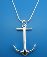 Wholesale Sailor Anchor Top sale Silver High quality Noble fashion charm Necklace Jewelry PN201