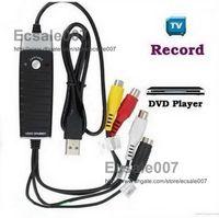 Wholesale High Recommend Grabber Video Pro Version Easycap USB DVD VHS AV Audio Capture DVR Cards Adapter