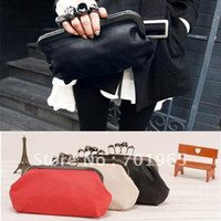 Women skull clutch - New Women Ring Bag Skeleton Skull Finger Clutch Purse Evening Handbags