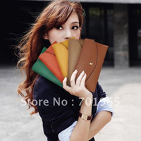 Wholesale Hot Simple Style Women s Envelope Clutch Lady Hand Bag Wrist Wallet totes Z023