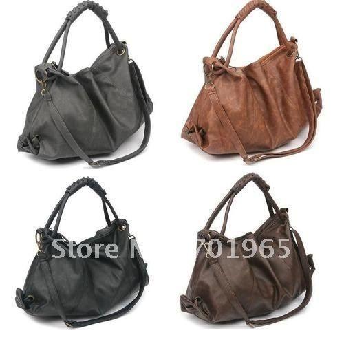 Korean Style Hobo Bag Online   Korean Style Leather Hobo Bag for Sale