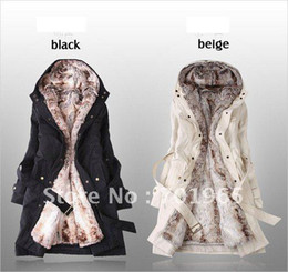 Wholesale Ladies Fashion Winter Jacket Winter Outerwear Clothes Faux Jackets Parka Overcoat Tops