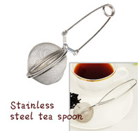 Wholesale Hot Selling Steel Spoon Tea Mesh Ball Infuser Strainer Stainless