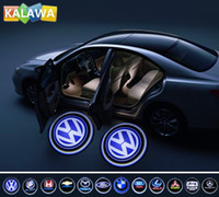 Wholesale Ghost Shadow Light door logo light LED welcome light Car Door Light Support custom any LOGO replacement for VW A03 GGG