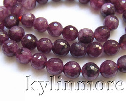 8SE09418a 8mm Jade Faceted Round beads 15.5''