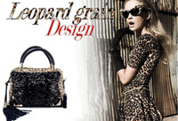 Women Animal Print PU Fashion Leopard Sequins Handbag Lady Shoulder bag Evening bag Messenger Totes Club bags in stock!!!